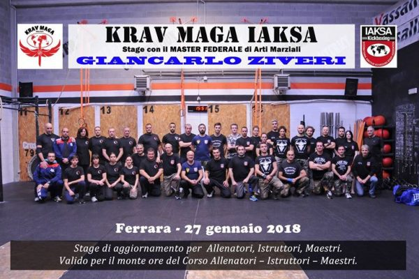Stage aggiornamento di Krav Maga Ferrara 2018 per allenatori, istruttori e maestri