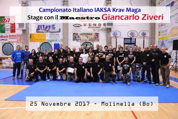 Stage Krav Maga Molinella 2017 con il maestro Giancarlo Ziveri e allievi